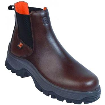No Risk Leather Denver S3 Dealer Safety Boot - Brown