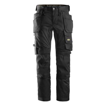 Snickers 6241 Allround Work Stretch Slim fit Trousers Black