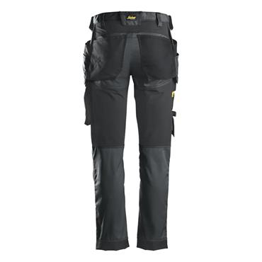 Snickers 6241 Allround Work Stretch Slim fit Trousers Grey/Black