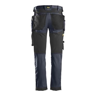 Snickers 6241 Allround Work Stretch Slim fit Trousers Navy/Black