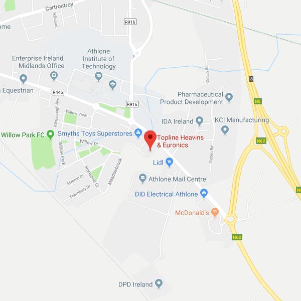Heavins Athlone location map