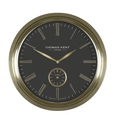 19'' Greenwich Timekeeper Wall Clock Brass Black