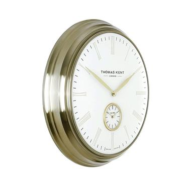 19'' Greenwich Timekeeper Wall Clock Brass Ivory