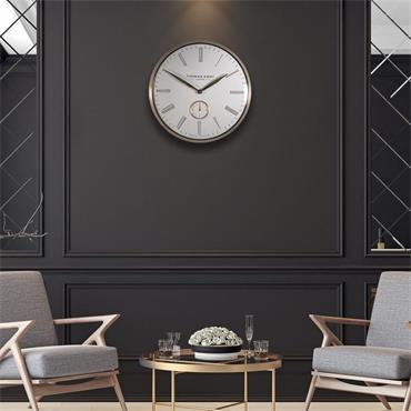19'' Greenwich Timekeeper Wall Clock Brass Ivory