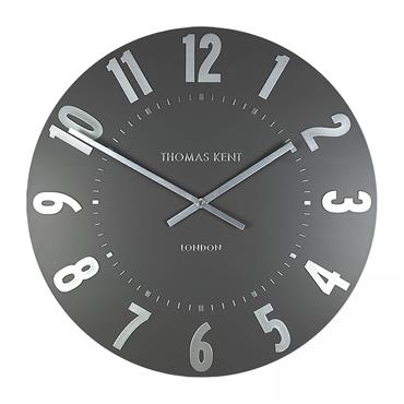 20'' Mulberry Wall Clock Graphite Silver