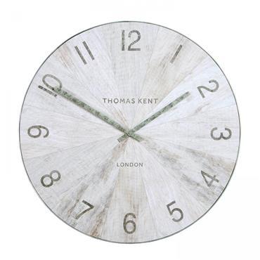 22'' Wharf Wall Clock Pickled Oak