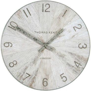 30'' Wharf Wall Clock  Pickled Oak