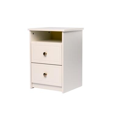Carroll White 2 Drawer 1 Shelf Locker