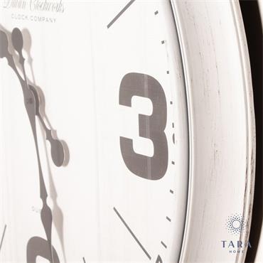 RETRO WALL CLOCK 50CM ANTIQUE WHITE