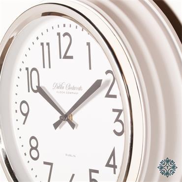 RETRO CAFE CLOCK IVORY GLOSS 35CM