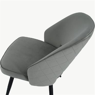 Sienna Chair Grey Velvet