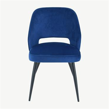 Sienna Chair Navy Velvet