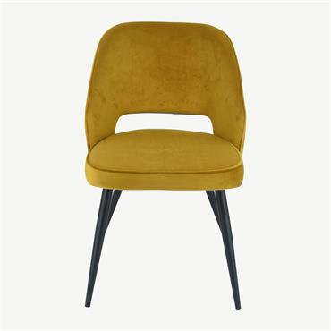 Sienna Chair Yellow Velvet