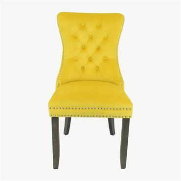 Casey Chair Antique Leg - Yellow