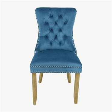 Casey Chair Brushed Leg - Blue