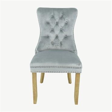 Casey Chair Brushed Leg - Grey