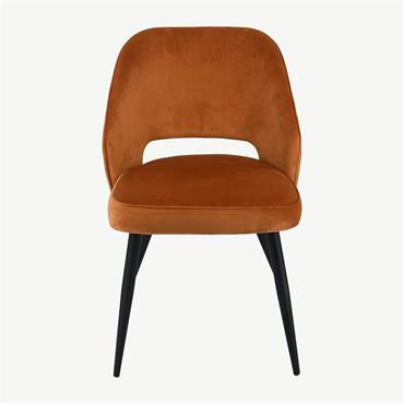 Sienna Chair Orange Velvet