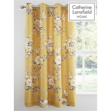 Canterbury Ochre Curtains eyelet 66x72