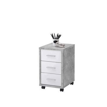 Spencer Drawer White & Grey Pedestal