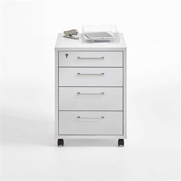 Hedi Drawer White Pedestal