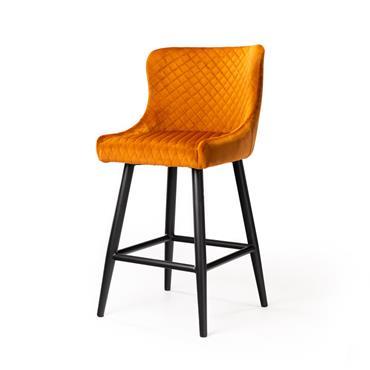 Sandy Orange Bar Stool