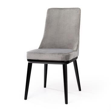 Tempo Velvet Grey Chair