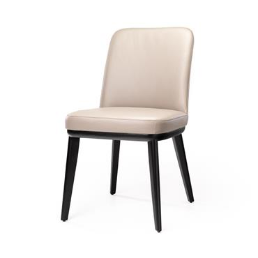 Jenny Grey Leather Chair