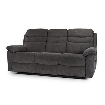 Tobago Charcoal 3 Seater Recliner