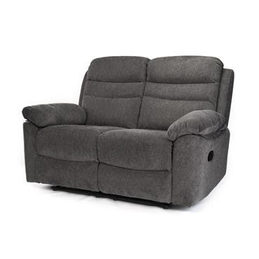 Tobago Charcoal 2 Seater Recliner