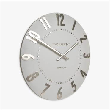 20'' Mulberry Wall Clock Silver Cloud