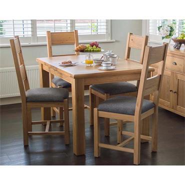 Glencar Grey Fabric Chair