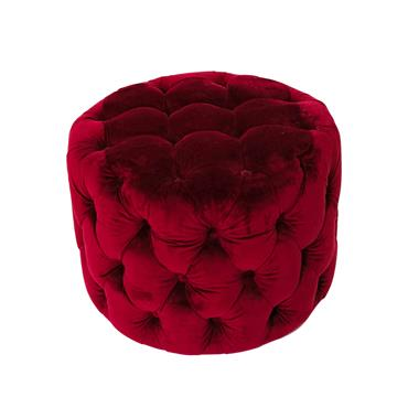 Poppy Footstool Crimson