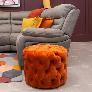 Poppy Footstool Pumpkin