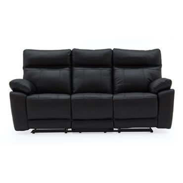 Bordeaux 3 Seater Recliner Black