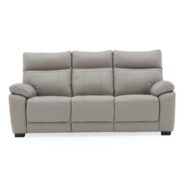 Bordeaux 3 Seater Fixed Light Grey
