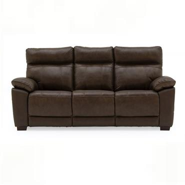 Bordeaux 3 Seater Fixed Brown