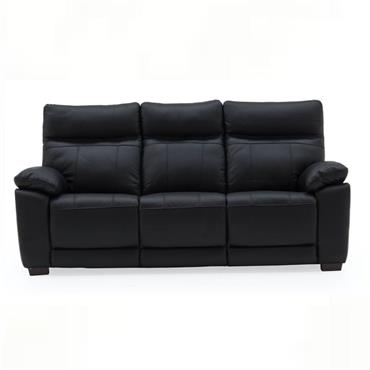 Bordeaux 3 Seater Fixed Black