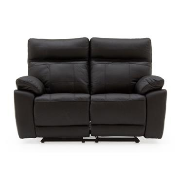 Bordeaux 2 Seater Recliner Black