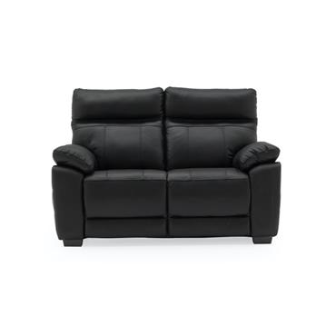 Bordeaux 2 Seater Fixed Black