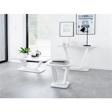 Jazz Console Table White Gloss