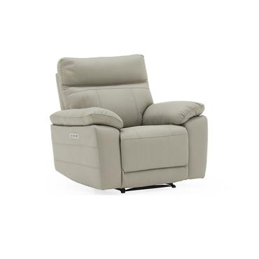 Bordeaux Recliner Electric Light Grey