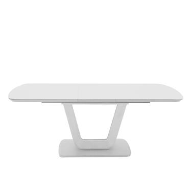 Jazz Dining Table Ext. White Gloss 1.2-1.6m
