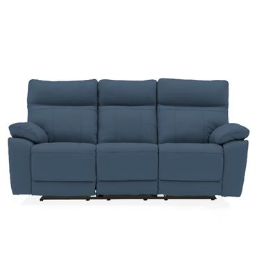 Bordeaux 3 Seater Recliner Indigo