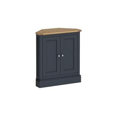 Atlantic Charcoal Corner Cupboard