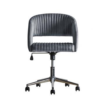 Murray Swivel Chair Charcoal Velvet