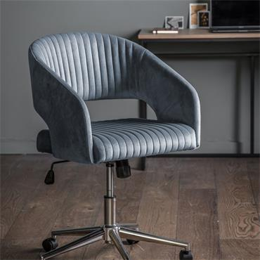 Murray Swivel Chair Charcoal Velvet