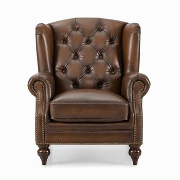 Windsor Leather Wing Chair