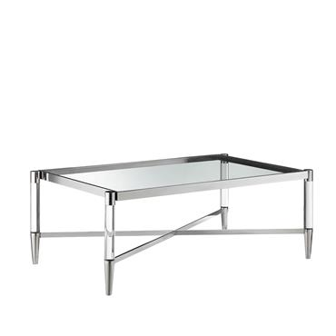 Millie Coffee Table Rectangle Silver