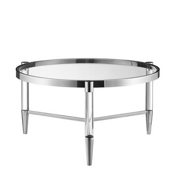 Millie  Coffee Table Circular - Silver