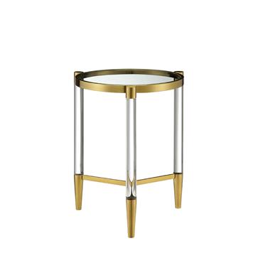 Millie  Lamp Table Circular - Gold